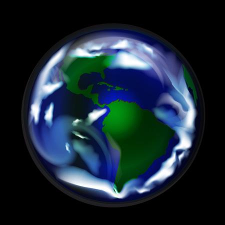World globe map vector image logo