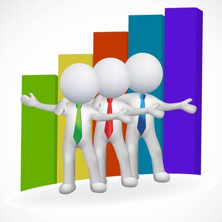 3d hommes leadership logo vecteur de l & # 39 ; entreprise Banque d'images - 83030310