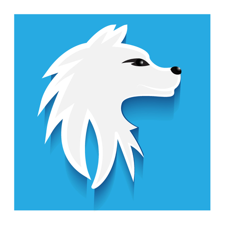 Siberian dog flat icon logo vector image