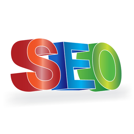 SEO - Search Engine Optimization 3D colorul design Illustration