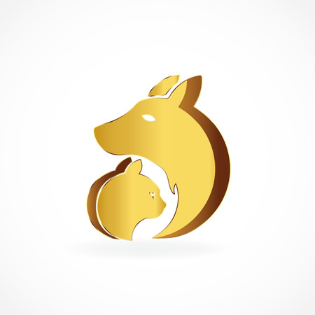 purebred: Dog and cat icon logo image vector