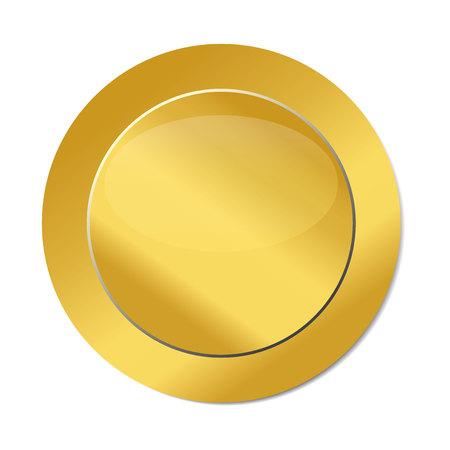 Gold seal icon logo vector image