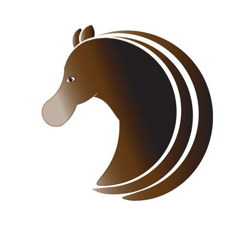 Horse profile logo vector