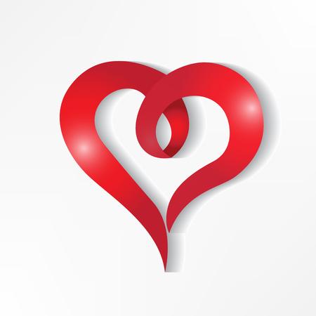 Heart love shine graphic design logo vector Illustration