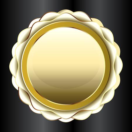 Golden label icon 向量圖像