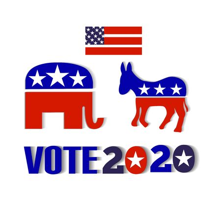 USA election 2020 design icon