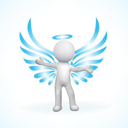 3D Angel man vector image