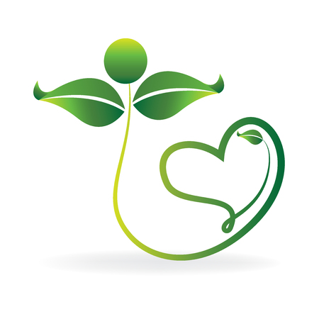 健康自然アイデンティティのビジネス カードのアイコン ベクトル イラスト。
