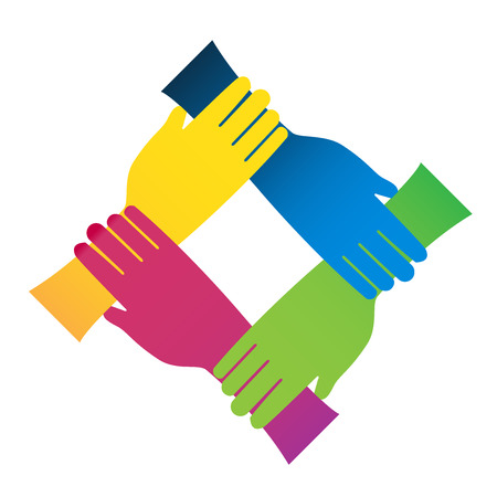 Hands connections vector