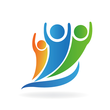 Optimistic people logo vector. Vectores