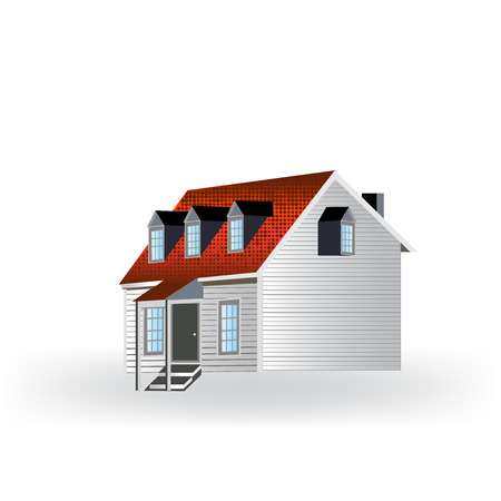townhouses: Country house isolated icon vector illustration design.