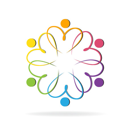 voluntary: Teamwork love people logo image template