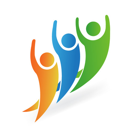 Optimistic people logo vector