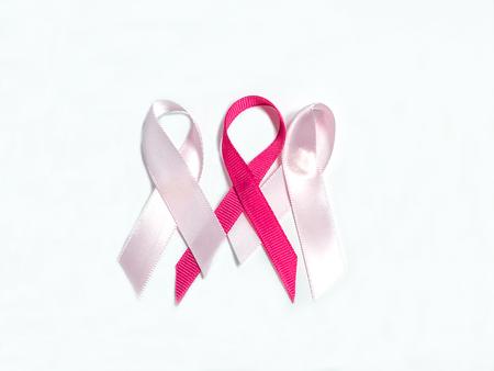 Breast cancer awareness pink ribbon symbol
