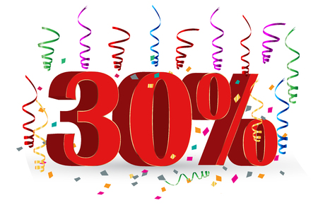 stock art: 30% Sale discount holidays sign