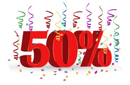 50% Sale discount holidays sign