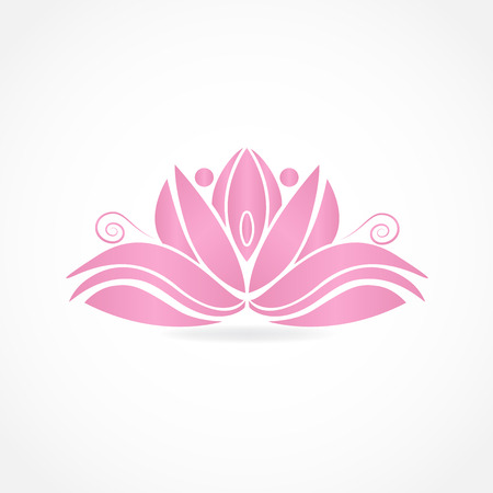 Abstract pink lotus flower id card vector image