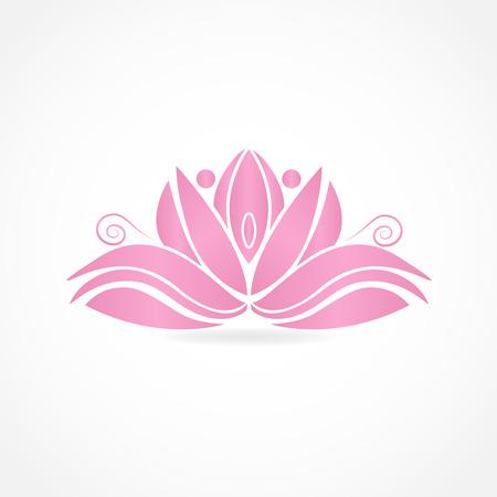 abstrakte rosa Lotus Blume ID Karte Vektor-Bild