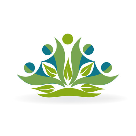 Healthy nature people vector logo
