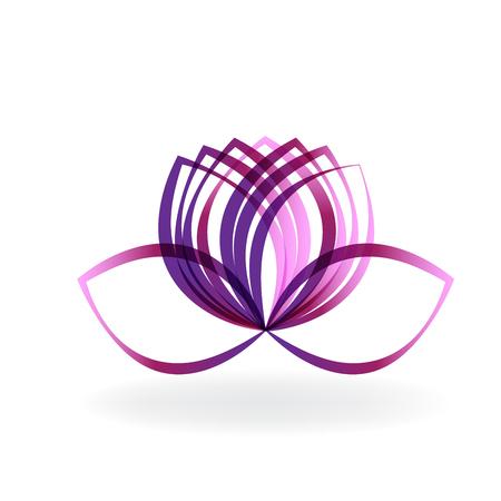 Lotus flower line art vector