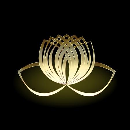 Gold lotus flower Vettoriali
