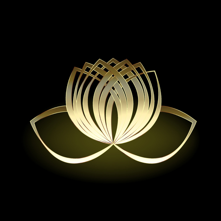 Gold lotus flower Vectores