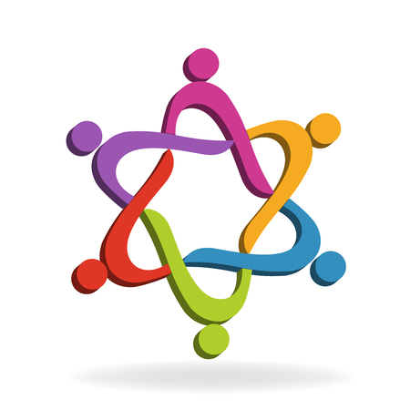 Teamwork social media people icon