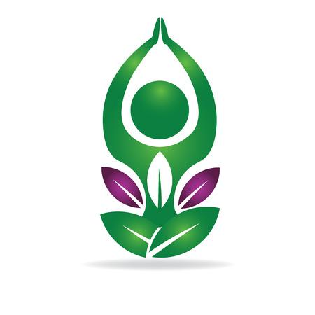 Symbol of yoga icon image logo