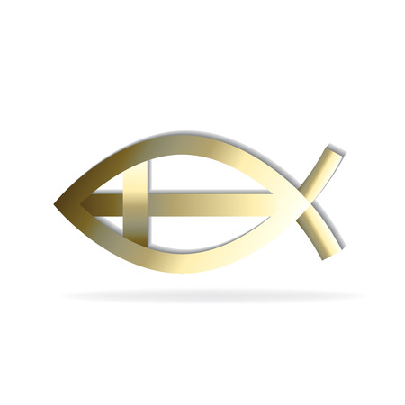 Abstract gold fish icon