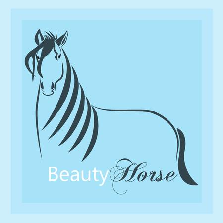 Horse silhouette emblem icon