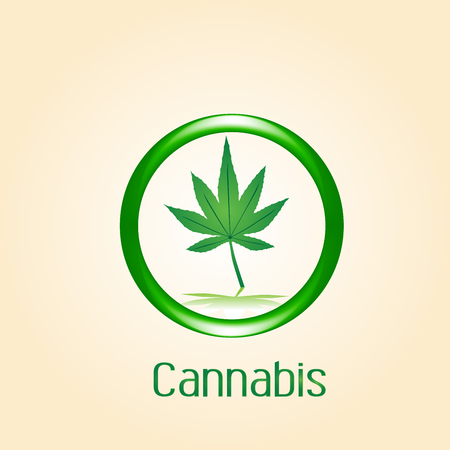 Cannabis leaf symbol icon vector image