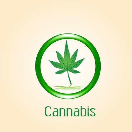 Cannabis leaf symbol icon vector image