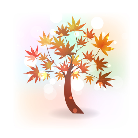 Fall tree vector illustration
