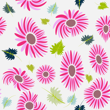 Flowers seamless background picture