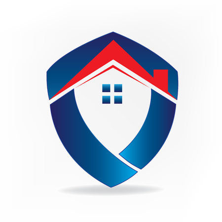 House real estate business id card concept icon