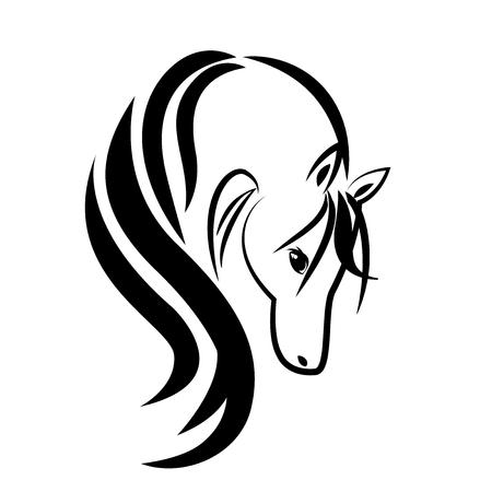Beauty horse symbol Ilustração