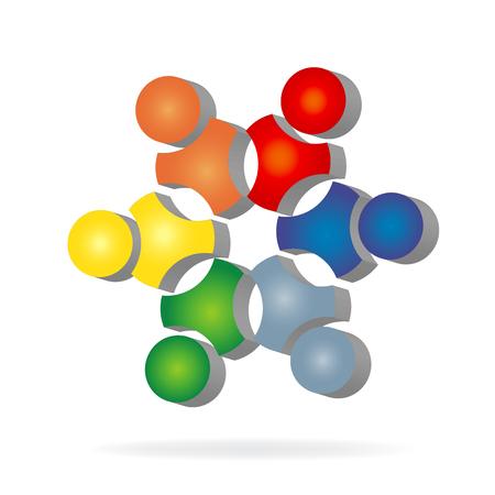 Teamwork business icon