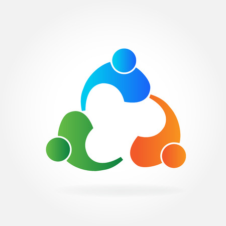 Vector teamwork people business id card logo Illustration