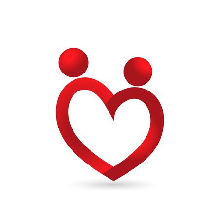 Love heart couple icon  vector