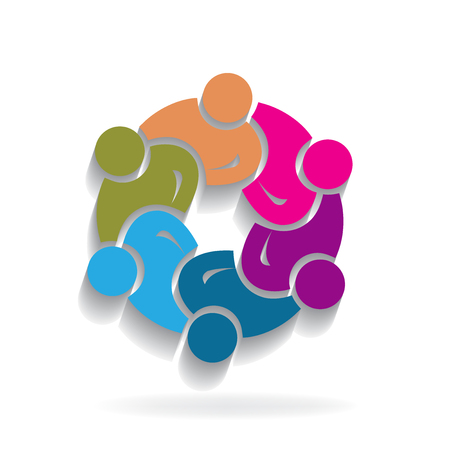 Logo teamwork unity business people Illustration