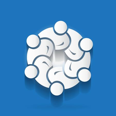 Logo teamwork unity business people Ilustração