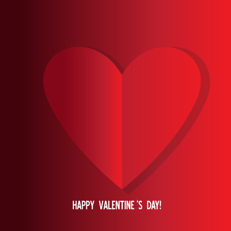 Valentines day greeting card love symbol vector