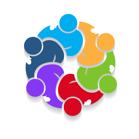 Circular teamwork design image illustration