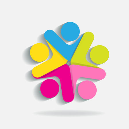 Teamwork icon template