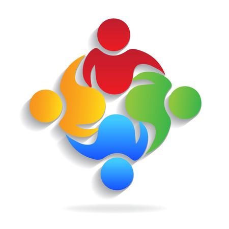 Teamwork business partners vector icon illustration.
