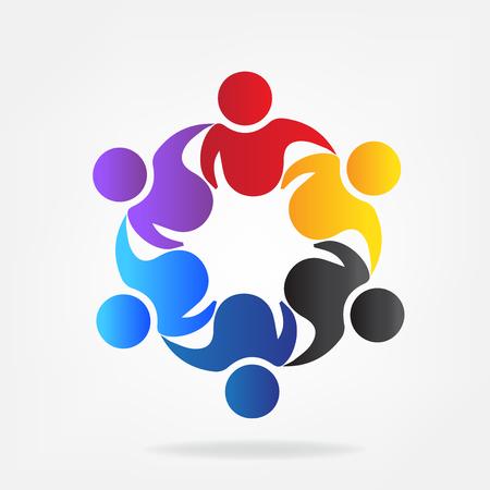 Teamwork networking vector icon illustration.