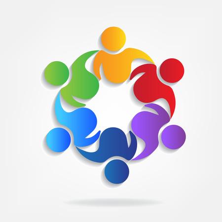 Teamwork business partners icon vector illustration.