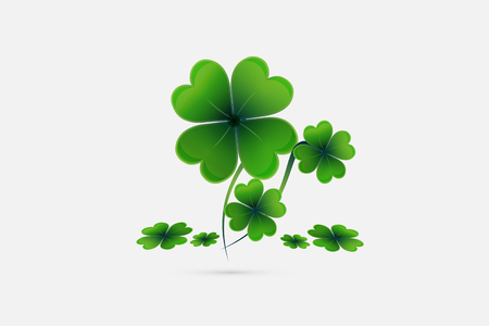 St. Patricks day lucky plant greetings card template