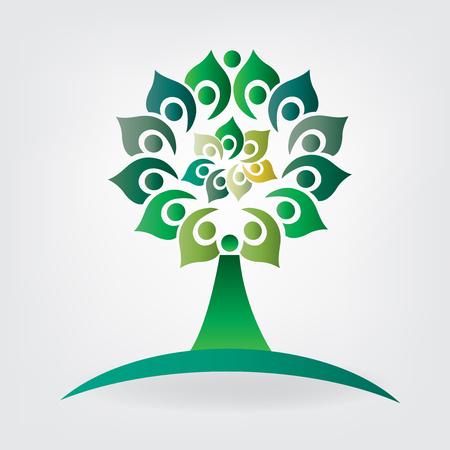 Tree union business health nature people icon. Illustration