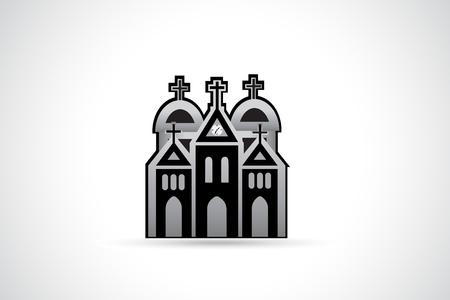 Church image in monochrome  Illustration.